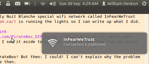 Connecting to the InFearWeTrust network