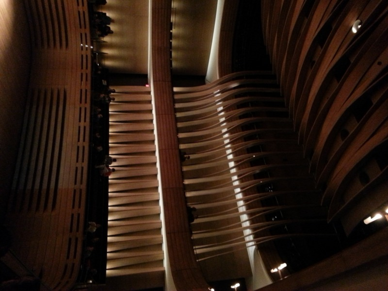 Koerner Hall, sideways