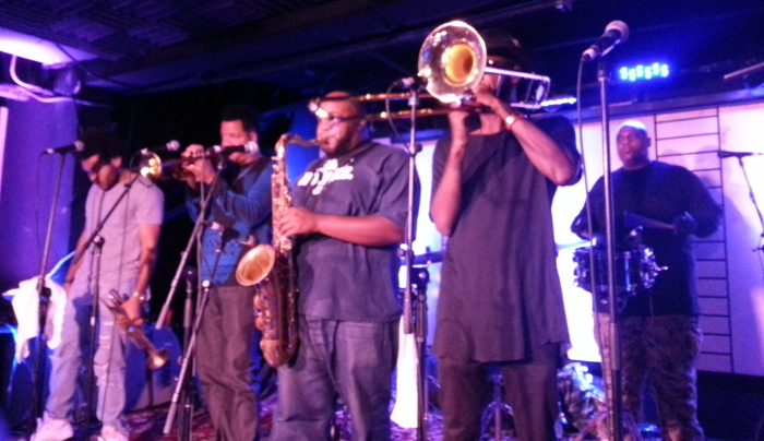 The Soul Rebels, a New Orleans brass band.  If they come to your town, do not miss it.