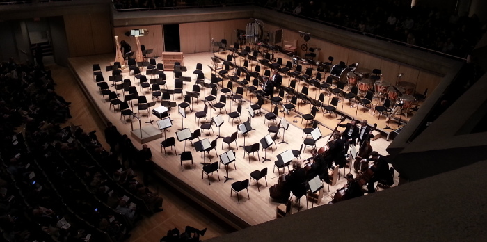Waiting for Sir Simon Rattle and the Berlin Philharmonic to enter Roy Thomson Hall, last November.