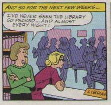 Librarians are please with increased patron activity.