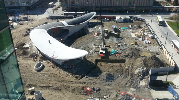 York University subway station under construction