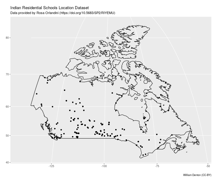 Map of Indian Residential Schools